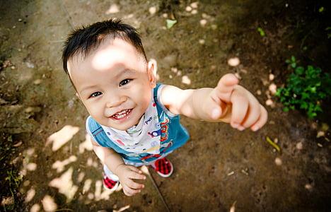 hymy, silmissä, lapsi, lapsuuden, yksi henkilö, hymyillen, muotokuva