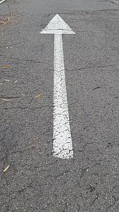 ok, yol, Mark, ayağı, kalkan, Yol İnşaatı, trafik işaretleri