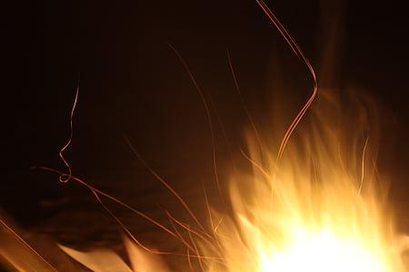 foc, calor, flama, foc de fusta, calenta