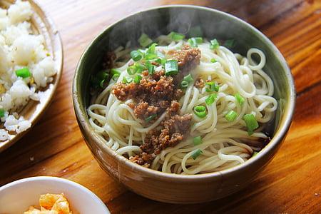 fideus, Dan dan, aliments, tradicional, local, deliciós, deliciós