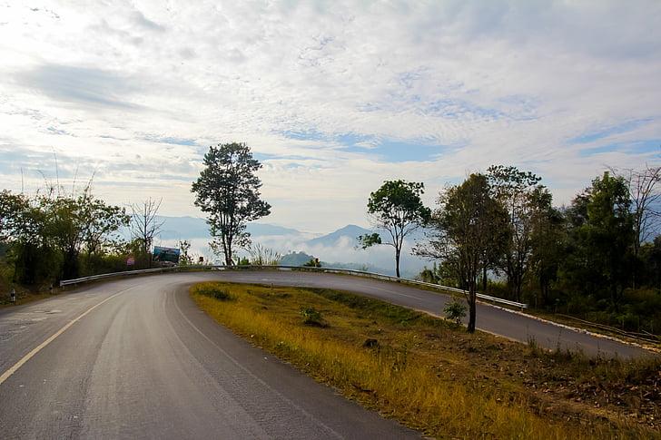 núi, đường, Thiên nhiên, bầu trời, đường cao tốc, chuyến đi