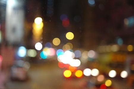 lights, bokeh, glitter, night view