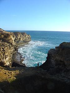 Australie, mer, Côte, falaise, littoral, Rock - objet, nature