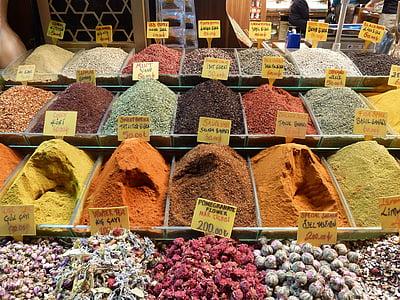 土耳其, 伊斯坦堡, 土耳其语, 糖果, 香料, 市场, 旅游