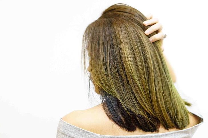 hår, blonde, kvinne, skjønnhet, bakfra, en kvinne bare, menneskehår
