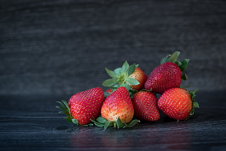 morangos, vermelho, maduras, frutos de baga, frutas, Frisch, delicioso