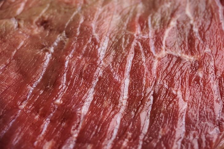gaļa, struktūra, neapstrādāta, jēlu gaļu, liellopu gaļa, miesnieks, rouladen gaļa