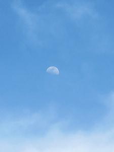 Mond-Tag, Himmel, Wolken