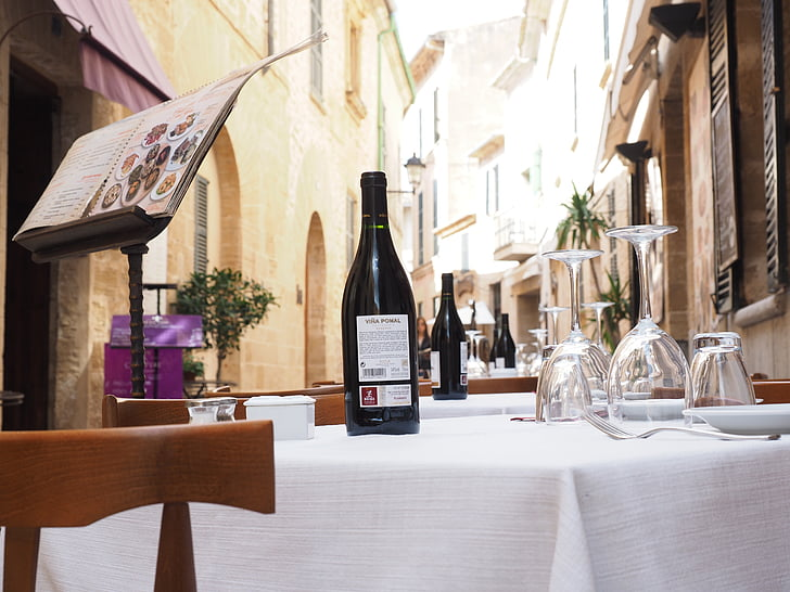 menüü, Restoran, Gastronoomia, veini, Tabel, kaetud, Nobeli