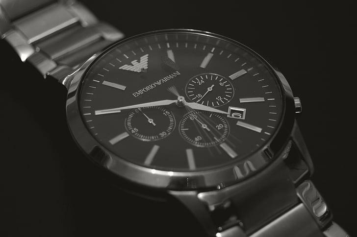 horloge, Emporio armani, Zweden, Indoor, klok, tijd, Polshorloge
