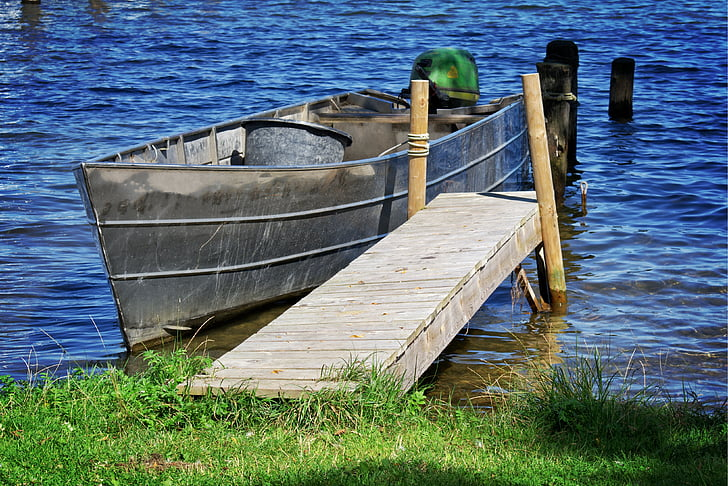boot, individually, dock, boardwalk, jetty, rest, anchorage