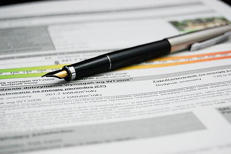 bút, tài liệu, giấy chứng nhận năng lượng, thỏa thuận, tài liệu, đăng nhập, kinh doanh