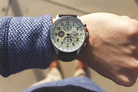 watch, watches, luxury, time, timepiece, avi-8, human hand