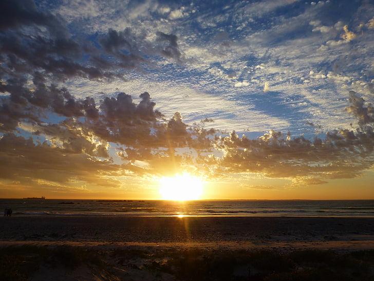 Захід сонця, море, abendstimmung, хмари, Природа, Сутінки, небо