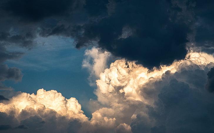 pilved, sinine taevas, loodus, torm, pilve - taevas, taevas, Ilm