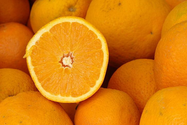 oranža, augļi, pārtika, svaigu, Citrus, vitamīnu, sulīgs