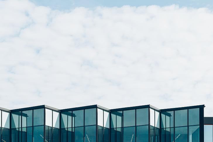 Architektūra, pastatas, infrastruktūros, dizainas, Debesis, dangus, pastato išorė