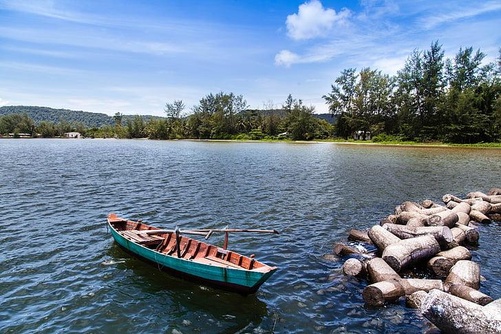 Phu quoc, illa, vaixell, no hi ha persones, encara, Viet nam, vaixell nàutica