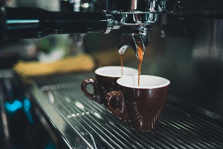 begudes, cafeteria, cafeïna, Caputxí, cafè, màquina de cafè, cafetera