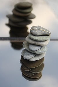 stones, balance, meditation, tower, stacked, wellness, mirroring