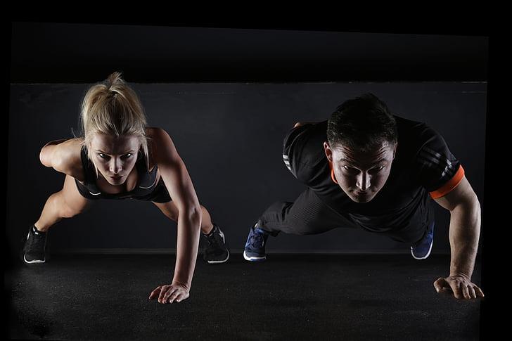 sport, remise en forme, formation, sportive, mouvement, gymnastique, gracieuse