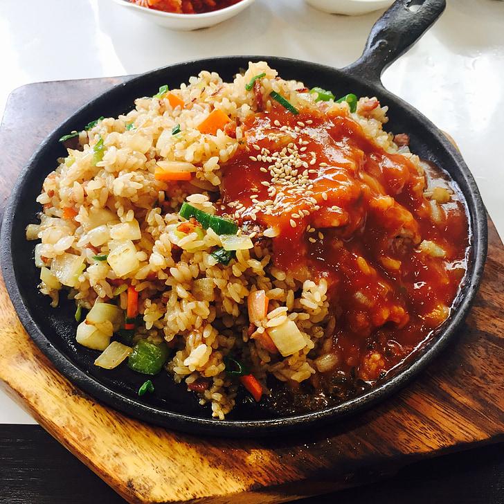 fried rice, bob, korean, teppan fried rice, char-fried rice, dining, cooking