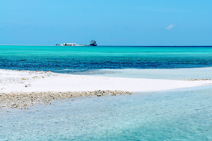 Maldive, Insula, albastru, apa, Resort, mare, plajă