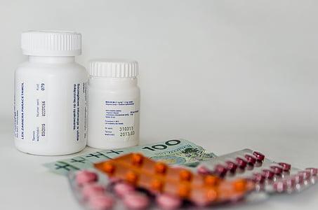 medicaments, diners, cura, comprimits, Farmàcia, mèdica, la malaltia