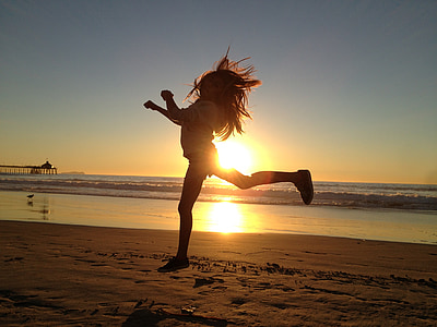 girl, jump, happy, active, activity, sports, fitness