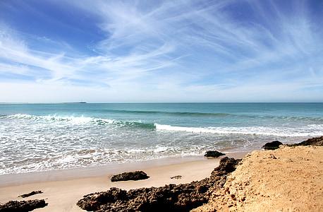 Beach, Atlantic, pobrežie Maroka, more, pobrežie, vlna, pobrežie krajiny
