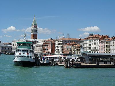 Venesia, kapal, air, liburan, rumah, saluran, romantis
