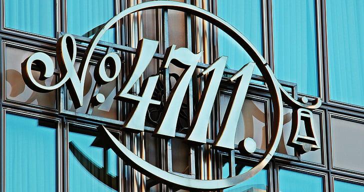 Kolín nad Rýnom, 4711 logo, Kolínska, fasáda, logo spoločnosti, parfum, okno