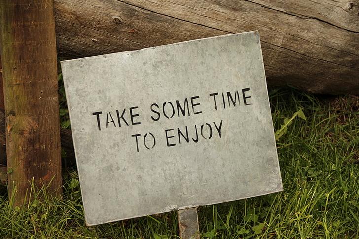 signo de, disfrutar de, tiempo