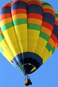 calenta, aire, globus, vol en globus, globus aerostàtic, volant, l'estiu