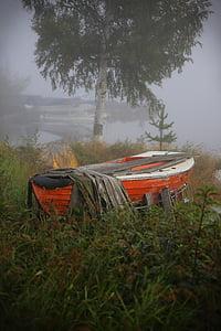 човен, літак, Мряка, озеро, ранок, пейзажі, на відкритому повітрі