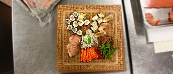 sushi, Sashimi de, plat, cuina, aliments, menjar, aliments