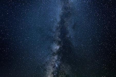 Làctia, manera, il·lustració, estrelles, galàxia, Via Làctia, espai