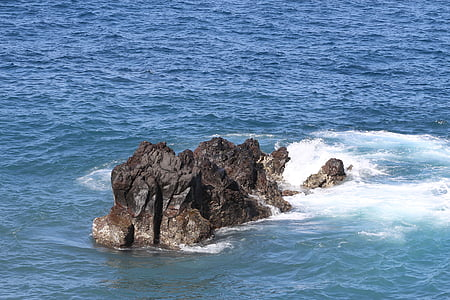 Roca, esprai, navegar per, Onatge, Tenerife, Mar, oceà