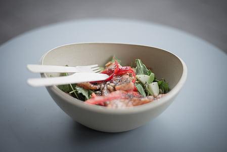 hrana, salata, losos, zdrav, obrok, svježe, ručak