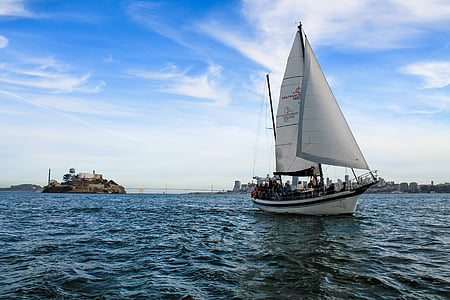 Yachts, segel, havet, vatten, båt, resor, nautisk