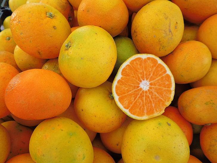 oranžinė, vaisių, organinių, oranžinio atspalvio geltona, Vitaminas
