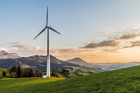 turbina de vent, energia eòlica, el medi ambient, energia, generació d'energia, Tecnologia Ambiental, producció d'electricitat