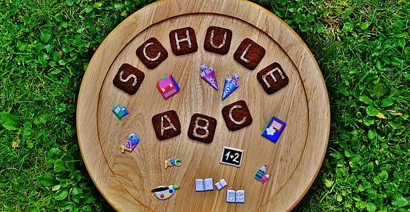 school, back to school, training, font, cookies, letters, children