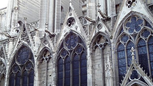 Catedral, Notre-dame, vidrieres, París