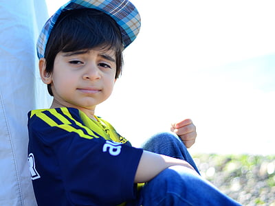 muotokuva, lapsi, kasvot, hymy, syytön, lapsi muotokuva, Ota yhteyttä