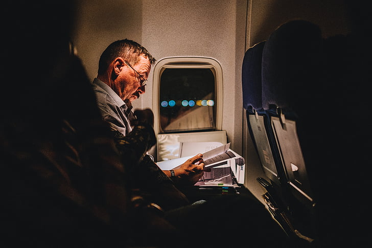 airplane, airline, travel, trip, flight, people, man