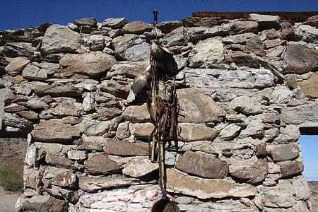 Yhdysvallat, Arizona, quartzsite, kullankaivaja, historiallisesti, Ruin