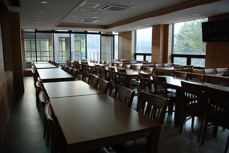 cafeteria, Refetor, menjador, taules, taules de menjador, menjador