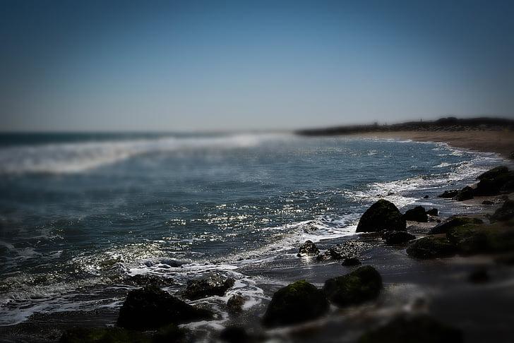 Kure beach, NC, Beach, Ocean, kalda, vee, Sea