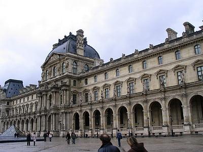 Louvre, Pariis, Prantsusmaa, hoone, muuseum, arhitektuur